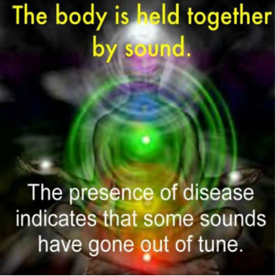 The presence of disease indicates that some sounds have got out of tune